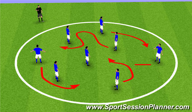Football/Soccer Session Plan Drill (Colour): Warm up - Letters and numbers