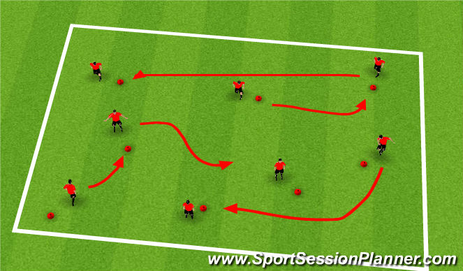 Football/Soccer Session Plan Drill (Colour): Warm up - Zoo animals