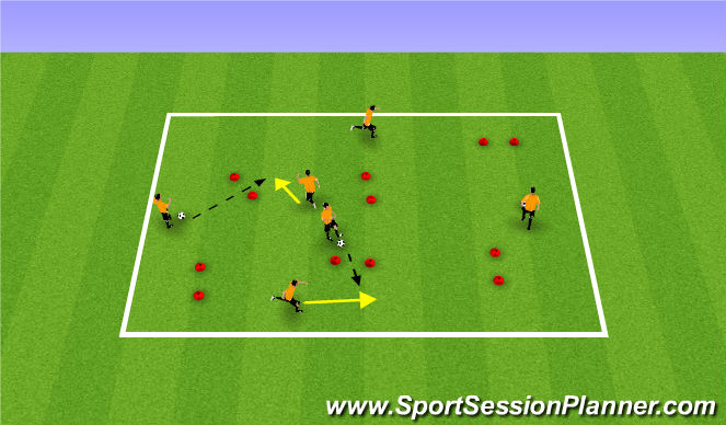 Football/Soccer Session Plan Drill (Colour): Passing/Receiving Warm Up