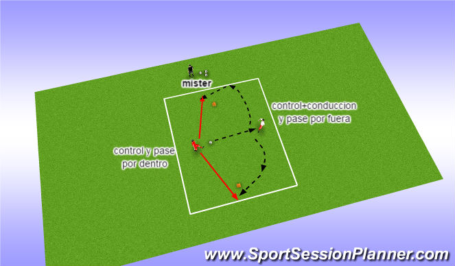 Football/Soccer Session Plan Drill (Colour): pase 1