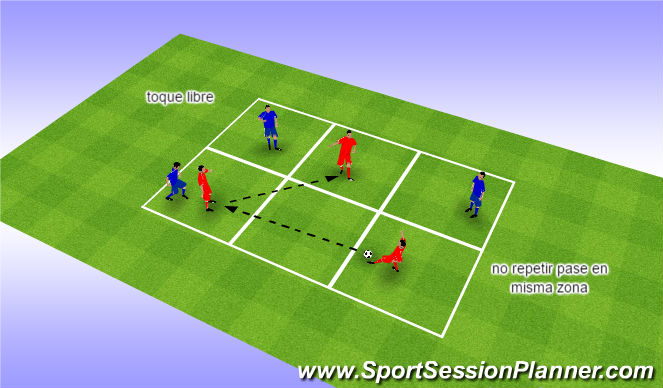 Football/Soccer Session Plan Drill (Colour): pase 2