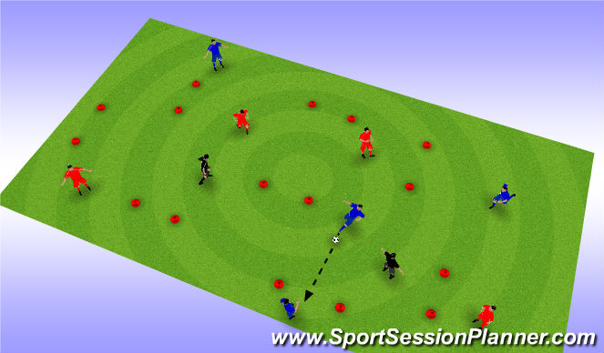 Football/Soccer Session Plan Drill (Colour): pase 3