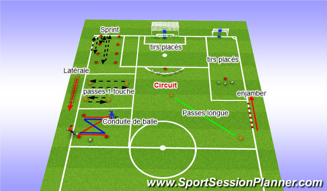 Football/Soccer Session Plan Drill (Colour): postes 2 joueurs