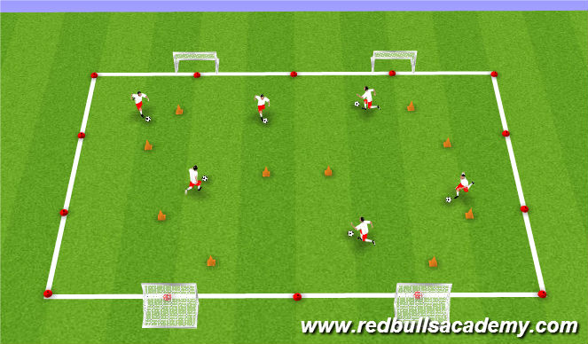 Football/Soccer Session Plan Drill (Colour): Touches/Cone Game