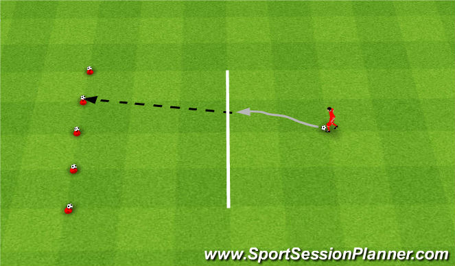 Football/Soccer Session Plan Drill (Colour): Strącanie piłek.