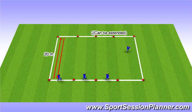 Football/Soccer Session Plan Drill (Colour): Dynamic Flexibility Warm