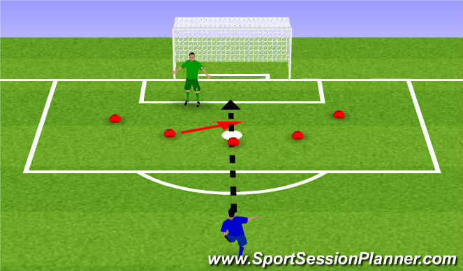 Football/Soccer Session Plan Drill (Colour): Saving on the move