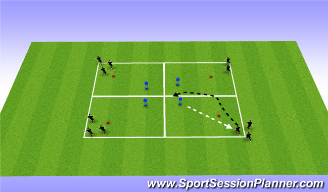 Football/Soccer Session Plan Drill (Colour): Sheidling and protecting
