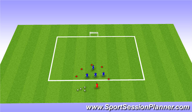 Football/Soccer Session Plan Drill (Colour): Steal the bacon
