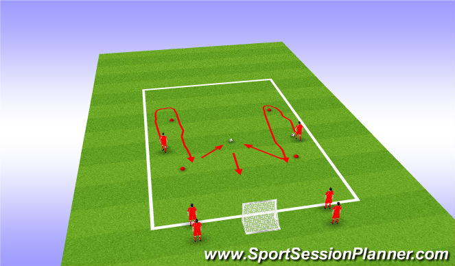 Football/Soccer Session Plan Drill (Colour): The 1v1 duel race