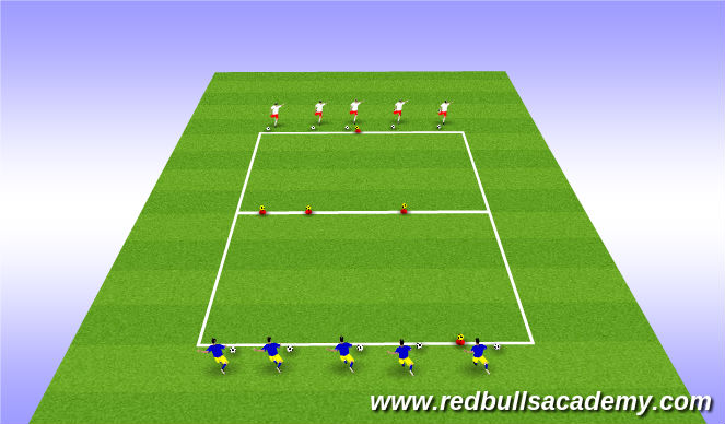 Football/Soccer Session Plan Drill (Colour): Red Bull Trophies