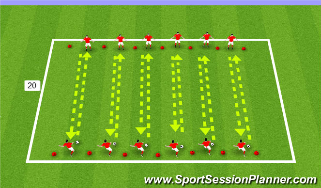Football/Soccer Session Plan Drill (Colour): Shooting Activity
