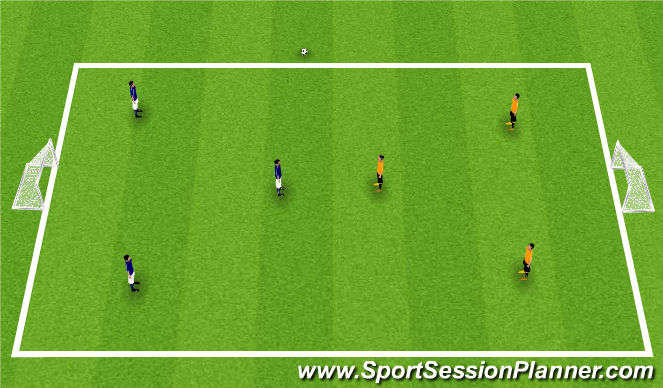 Football/Soccer Session Plan Drill (Colour): Game 3v3