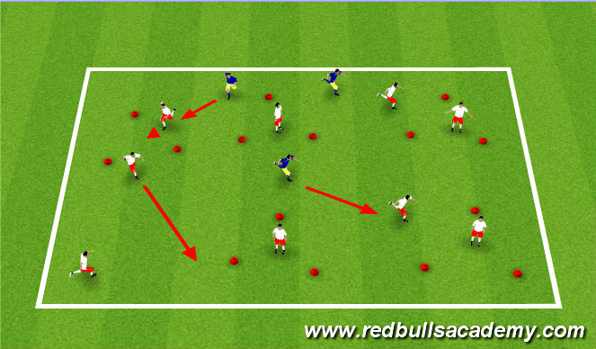 Football/Soccer Session Plan Drill (Colour): Without a ball