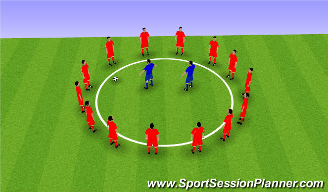 Football/Soccer Session Plan Drill (Colour): Torro