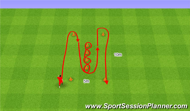 Football/Soccer Session Plan Drill (Colour): Illinois Test.