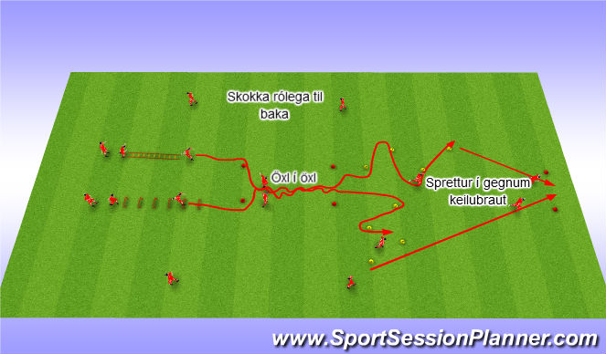 Football/Soccer Session Plan Drill (Colour): Líkamleg þjálfun