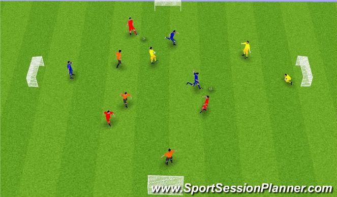 Football/Soccer Session Plan Drill (Colour): Skilyrtur leikur