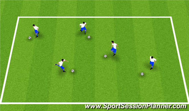 Football/Soccer Session Plan Drill (Colour): Warm-Up - Red Light, Green Light