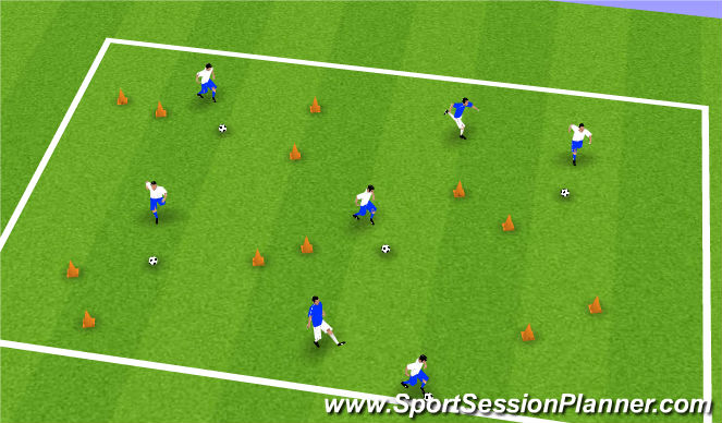 Football/Soccer Session Plan Drill (Colour): Walk Your Dog