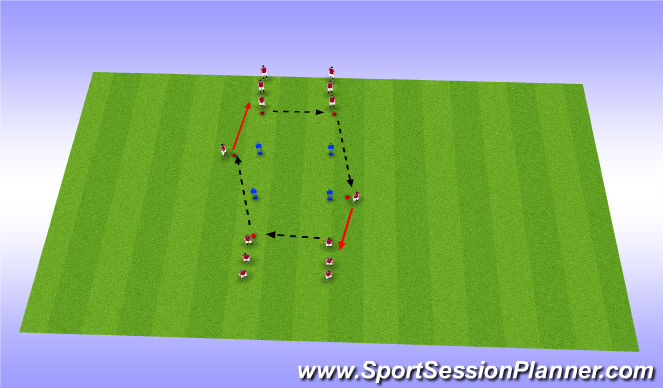 Football/Soccer Session Plan Drill (Colour): Variation