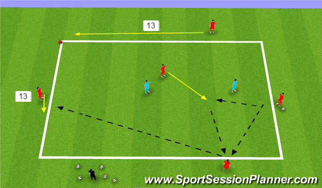 Football/Soccer Session Plan Drill (Colour): 5 v 2 Rondo