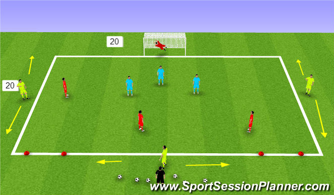 Football/Soccer Session Plan Drill (Colour): 7 v 7 SSG OR SSA