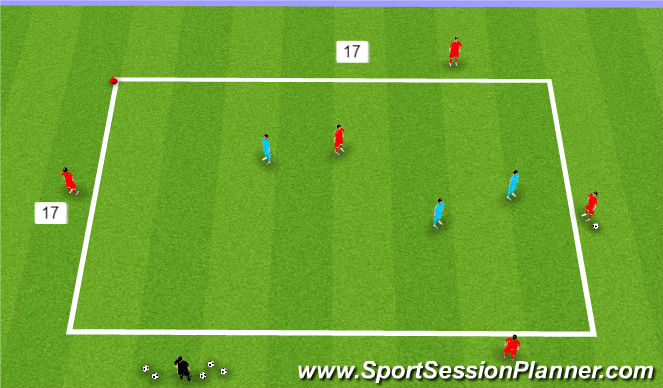 Football/Soccer Session Plan Drill (Colour): 5 v 3 Rondo