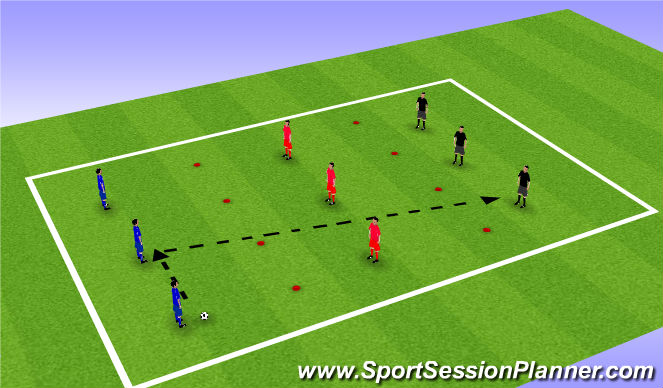 Football/Soccer Session Plan Drill (Colour): Long Passing Skill