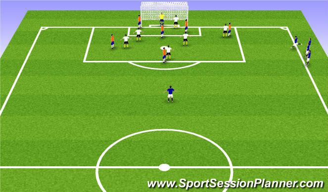 Football/Soccer Session Plan Drill (Colour): Small Activtiy