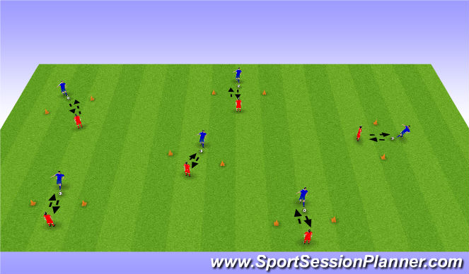 Football/Soccer Session Plan Drill (Colour): Passing & Receiving Warm Up