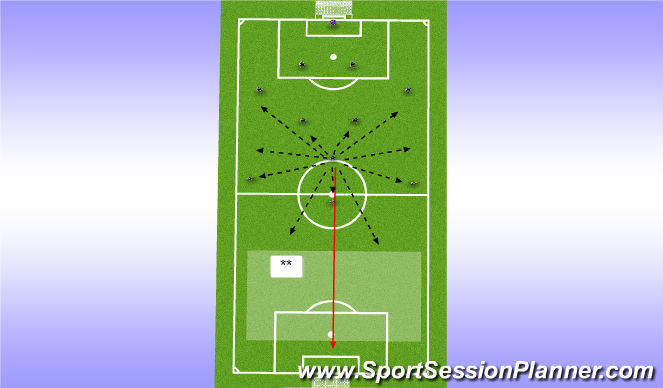 Football/Soccer Session Plan Drill (Colour): AM Play