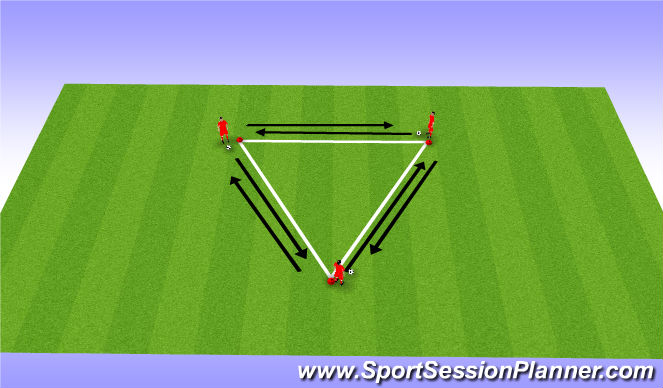 Football/Soccer Session Plan Drill (Colour): Warm Up (Coerver)