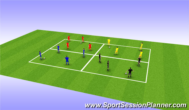 Football/Soccer Session Plan Drill (Colour): PASSING GRIDS