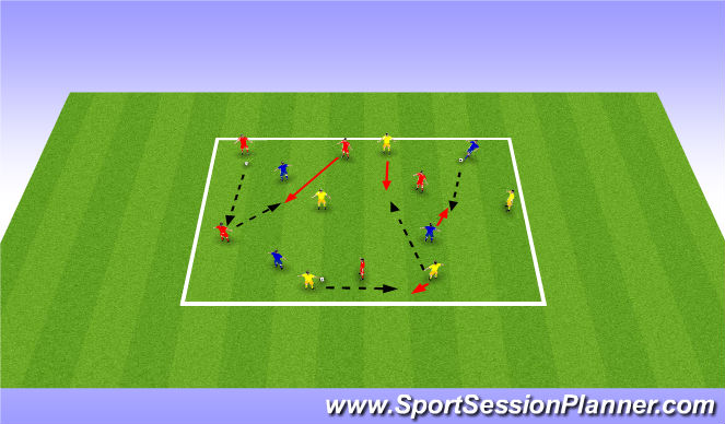 Football/Soccer Session Plan Drill (Colour): Stage 2: Technical (unopposed)