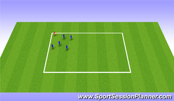 Football/Soccer Session Plan Drill (Colour): Fetch