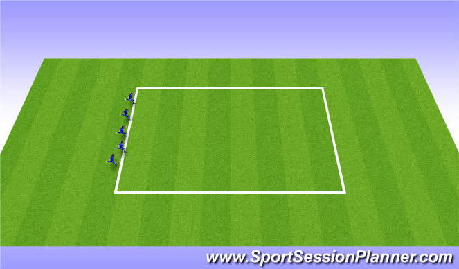 Football/Soccer Session Plan Drill (Colour): Warm ups - dynamic movements