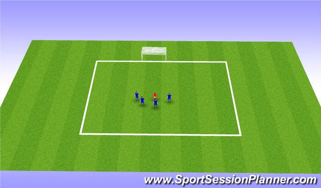 Football/Soccer Session Plan Drill (Colour): Shoot on Goal