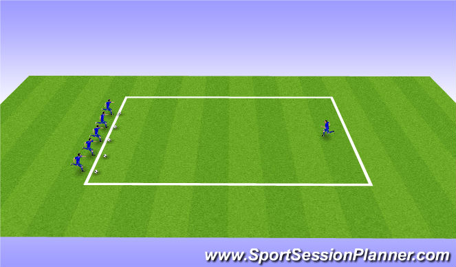 Football/Soccer Session Plan Drill (Colour): Sharks & Minnows