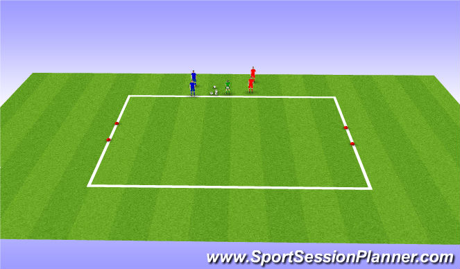 Football/Soccer Session Plan Drill (Colour): 1v1 (Directional)