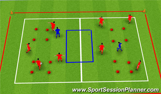 Football/Soccer Session Plan Drill (Colour): small area practice
