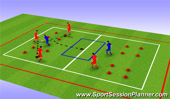 Football/Soccer Session Plan Drill (Colour): small area game