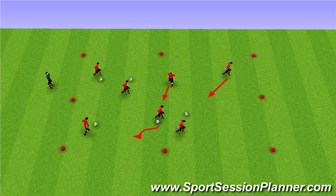 Football/Soccer Session Plan Drill (Colour): Bandits