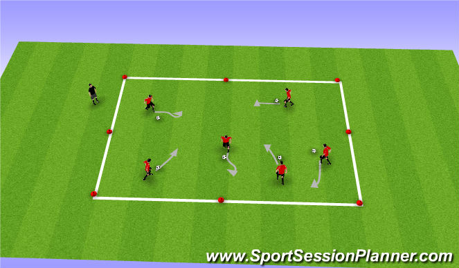 Football/Soccer Session Plan Drill (Colour): Ball Tag