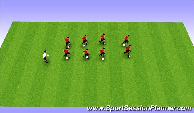Football/Soccer Session Plan Drill (Colour): Skill testing