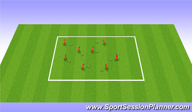 Football/Soccer Session Plan Drill (Colour): Square Dance