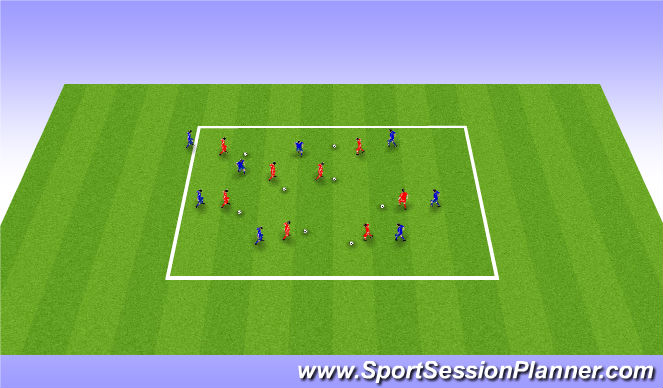 Football/Soccer Session Plan Drill (Colour): Me and My Shadow