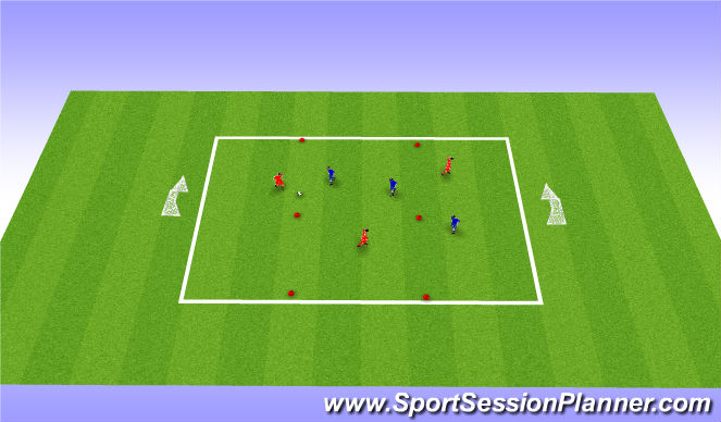 Football/Soccer Session Plan Drill (Colour): Micro Soccer