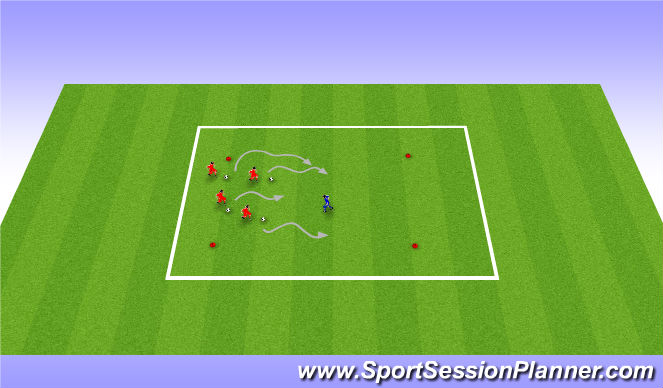 Football/Soccer Session Plan Drill (Colour): Octopus