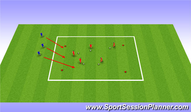 Football/Soccer Session Plan Drill (Colour): Fox and Rabbit